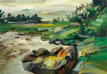 kurt-schwitters-landscape,-hjertøya-near-molde,-norway